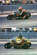 Lot De 2 CP - Motos YAMAHA 750 TZ - Christian Estrosi - Patrick Fernandez - Motociclismo