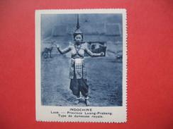 Chromo Image Vignette  Indochine - Laos - Province Luang-Prabang - Type De Danseuse Royale -  6.5 X 7.5 Cm - Chromos
