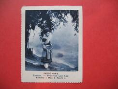 """Chromo Image Vignette  Indochine - Tonkin - Province Lao Kay - Femme """" Meo à Fleurs """"  -  6.5 X 7.5 Cm - Chromos"""
