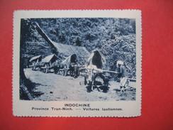 Chromo Image Vignette  Indochine - Province Tran-Ninh - Voitures Laotinnes -  6.5 X 7.5 Cm - Chromos