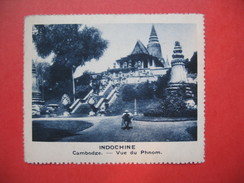 Chromo Image Vignette  Indochine - Cambodge - Vue Du Phnom -  6.5 X 7.5 Cm - Chromos