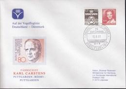 """Deutsche Schiffspost FS """"Karl Carstens"""", Vogelfluglinie 15.6.1991 - Schiffahrt"""