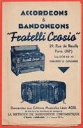 """Partition Publicitaire Dont ACCORDEONS & BANDONEONS """"Fratelli Crosio"""" 75012 PARIS * Musique Accordéon Pub Publicité - Non Classés"""