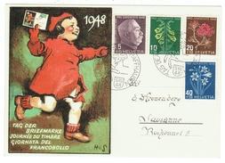 Suisse // Schweiz // Switzerland // Marcophilie // Journée Du Timbre 1948 Schaffhausen - Storia Postale
