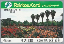 JP.- Japan, Telefoonkaart. Telecarte Japon. RAINBOW CARD. - Bloemen