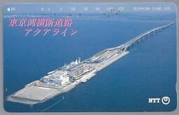 JP.- Japan, Telefoonkaart. Telecarte Japon. NTT. -  BRUG - Landschappen