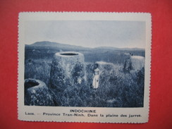 Chromo Image Vignette  Indochine - Laos - Province Tran-Ninh - Dans La Plaine Des Jarres -  6.5 X 7.5 Cm - Chromos
