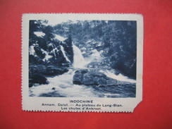 Chromo Image Vignette  Indochine - Annam Dalat - Au Plateau Du Lang-Bian- Les Chutes D'Ankroet -  6.5 X 7.5 Cm - Chromos