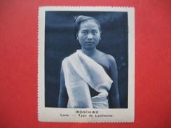 Chromo Image Vignette  Indochine -  Laos - Type De Laotienne  -  6.5 X 7.5 Cm - Chromos