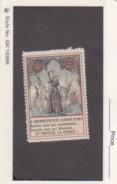 France WWI Jeanne D'Arc Vignette  Military Heritage Poster Stamp - Commemorative Labels