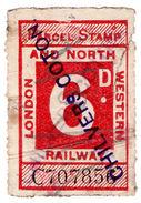 (I.B) London & North Western Railway : Parcel 6d (Chilvers Coton) - 1840-1901 (Victoria)