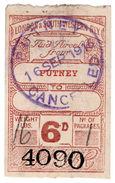 (I.B) London & South Western Railway : Paid Parcel 6d (Putney) - 1840-1901 (Victoria)