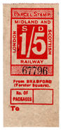 (I.B) London Midland & Scottish Railway : Parcel 1/5d (Bradford Forster Square) - 1840-1901 (Victoria)