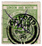 (I.B) London & North Western Railway : Letter Stamp 2d (Oxford Postal) - 1840-1901 (Victoria)
