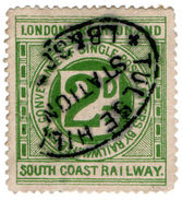 (I.B) London Brighton & South Coast Railway : Letter Stamp 2d (Tulse Hill) - 1840-1901 (Victoria)