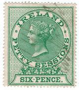 (I.B) QV Revenue : Ireland Petty Sessions 6d (1862) - 1840-1901 (Victoria)