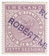 (I.B) QV Revenue : Ireland Petty Sessions 2/6d (1881) - 1840-1901 (Victoria)