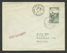 N° 740 - 4F + 2F Croisade Air Pur / PARIS 09.07.1945 Pour Les U.S.A....premier Jour Mise En Vente ! ! - Marcophilie (Lettres)