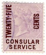 (I.B) QV Revenue : Consular Service 25c On 3d OP - 1840-1901 (Victoria)