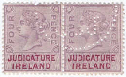 (I.B) QV Revenue : Judicature Ireland 4d (1882) - 1840-1901 (Victoria)
