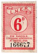 (I.B) London & North Eastern Railway : Newspaper Parcel 6d - 1840-1901 (Victoria)