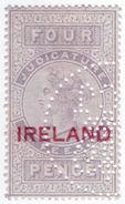 (I.B) QV Revenue : Judicature Ireland 4d (1880) - 1840-1901 (Victoria)