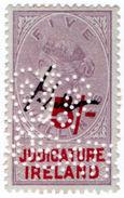 (I.B) QV Revenue : Judicature Ireland 5/- (1895) - 1840-1901 (Victoria)