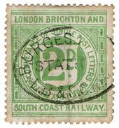 (I.B) London Brighton & South Coast Railway : Letter Stamp 2d (Burgess Hill) - 1840-1901 (Victoria)