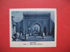 Chromo Image Vignette  Maroc - Fez - Bab Bou Zeloud   6.5 X 7.5 Cm - Chromos