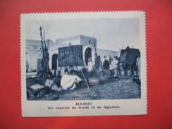 Chromo Image Vignette  Maroc - Un Marché De Fruits Et De Légumes -   6.5 X 7.5 Cm - Chromos