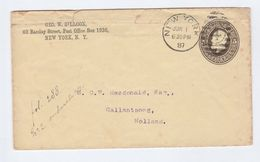 1887 USA NY To Callantsoog NETHERLANDS Postal STATIONERY COVER Stamps - Postal Stationery