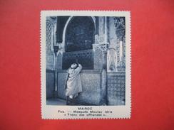 """Chromo Image Vignette  Maroc - Fez - Mosquée Moulay Idris """" Tronc Des Offrandes """"  -   6.5 X 7.5 Cm - Chromos"""