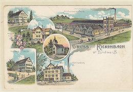 Gruss Aus Rickenbah Bei Lindau I.B. - Mehrbildlitho Mit Milchkonservenfabrik         (A-57-160721) - Germania