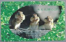 JP.- Japan, Telefoonkaart. Telecarte Japon. NTT. TELEPHONE CARD 105. HAMSTERS - Telefoonkaarten
