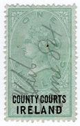 (I.B) QV Revenue : County Courts Ireland 1/- (1882) - 1840-1901 (Victoria)