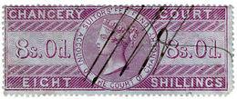 (I.B) QV Revenue : Chancery Court 8/- (1857) - 1840-1901 (Victoria)