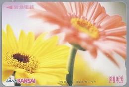 JP.- Japan, Telefoonkaart. Telecarte Japon. KANSAI. LAGARE CARD - Bloemen