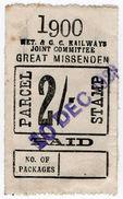 (I.B) Metropolitan & Great Central Joint Railway : Parcel 2/- (Great Missenden) - 1840-1901 (Victoria)