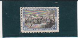 France WWI Automobile Club 25c Blue & Black Vignette - Commemorative Labels