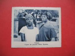 Chromo Image Vignette  Togo -  Types De Jeunes Filles Ewhés -   6.5 X 7.5 Cm - Chromos