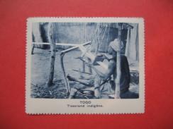 Chromo Image Vignette  Togo -  Tisserand Indigène  -   6.5 X 7.5 Cm - Chromos