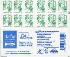 """CARNET 1215-C 8 Marianne De Ciappa-Kawena Vert """"UN CLUB AU COEUR DE VOTRE PASSION"""". RARE, à SAISIR. - Carnets"""