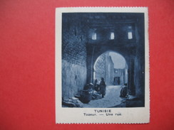 Chromo Image Vignette  Tunisie - Tozeur - Une Rue -   6.5 X 7.5 Cm - Chromos