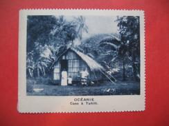 Chromo Image Vignette  Océanie - Case à Tahiti -   6.5 X 7.5 Cm - Chromos