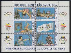 MOLDAVIA 1992 - MOLDOVA - OLYMPICS BARCELONA 92 - YVERT BF - 1 - MICHEL BLOCK 1 - SCOTT  SS 53 - Verano 1992: Barcelona