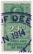 (I.B) Edward VII Revenue : Ireland Registration Of Deeds 2/6d - 1902-1951 (Kings)
