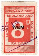 (I.B) London Midland & Scottish Railway : Parcel 8d (Wem) - 1840-1901 (Victoria)