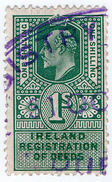 (I.B) Edward VII Revenue : Ireland Registration Of Deeds 1/- - 1902-1951 (Kings)
