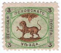 (I.B-CK) Russia Zemstvo Postal : Pskof 3kp - Russia & USSR