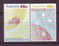 AU - 2001, Commonwealth Conference 2v Mnh - 2000-09 Elizabeth II